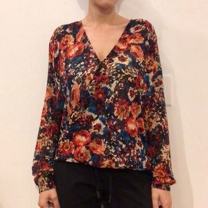 Floral Semi Sheer Blouse by WAYF